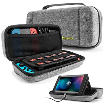 Estuche rígido de Almacenamiento Compatible con Nintendo Switch, tomtoc Protective Hardshell Estuche de Viaje Estuche portátil Funda para el maletín y ...