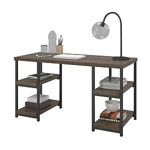 Ameriwood Home Ashlar Desk, Weathered Oak