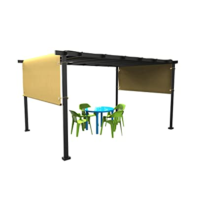 Shatex 17.5x6.5ft Wheat, Pergola Replacement Canopy with gromments and Ball Bungee, Exterior Privacy Side Shade Panel for Pergola, Patio, Window : Garden & Outdoor