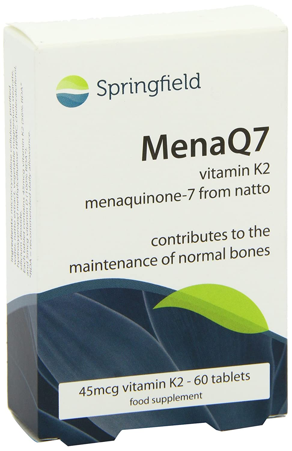 Amazon.com: Springfield nutracéuticos MenaQ7 Vitamin K2, 60 ...