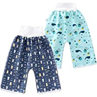 2 Packs Baby Waterproof Training Pants, Diaper Pants , Washable Diaper for Boys and Girls, 0-4T or 4-8T Night Leak Proof…