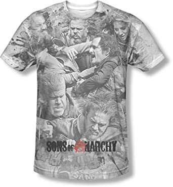 37b6bffc Sons Of Anarchy - Mens Brawl T-Shirt: Amazon.co.uk: Clothing