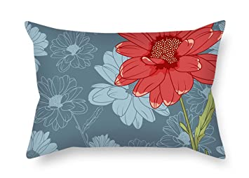 Amazoncom Throw Cushion Covers Of Flower 12 X 20 Inches 30 By 50