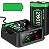 BEBONCOOL Rechargeable Battery Pack Compatible With Xbox Series X Xbox One Controller,2x2600mAh Rechargeable Batteries…