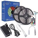 ストリングライト LEDテープ RGB 5050 10M 300連 防水IP65 正面発光 高輝度 カラー選択可能 ストリップライト テープライト 17キーリモコン操作 12V 5A 電源