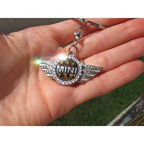 Amazon.com  Bling keychain for Mini Cooper with Swarovski crystals golden   Handmade a048eaf41