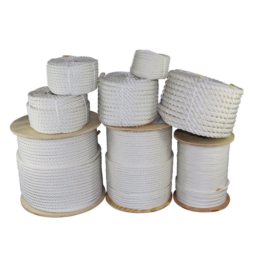 SGTノッツ ポリエステルツイストロープ 1/4、3/8、1/2、5/8、3/4、1、1.25、1.5、2インチ x 数種類の長さ B06X9CY5J2 1/4 inch x 600 feet|ホワイト ホワイト 1/4 inch x 600 feet