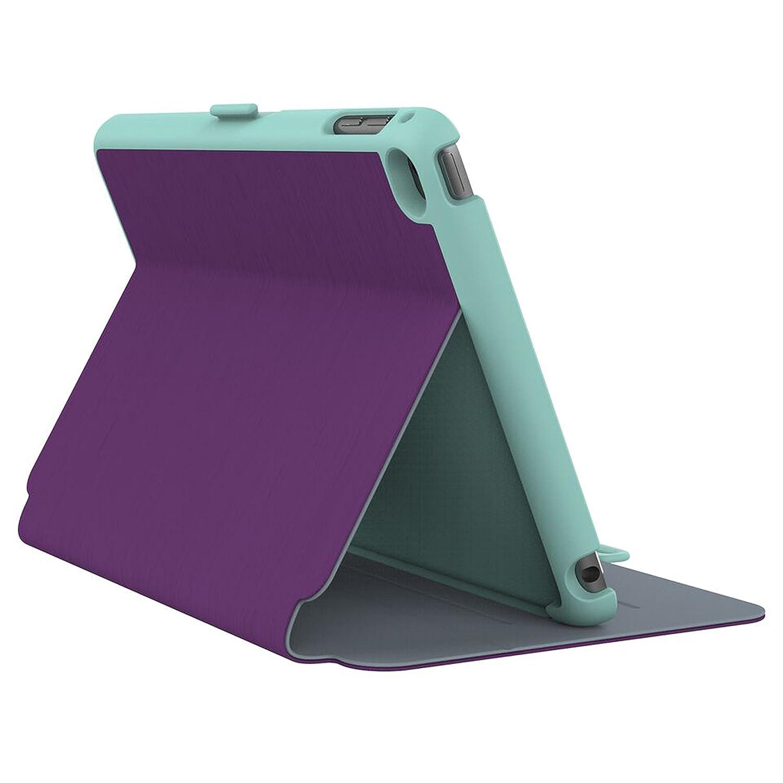 new york 67c33 02f08 Speck Products StyleFolio Case and Stand for iPad Mini 4, Acai Purple/Aloe  Green (71805-C256)