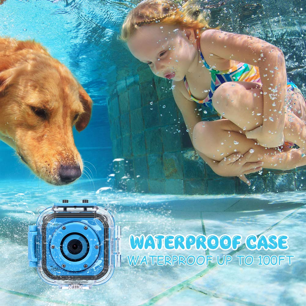 VanTop Junior K3 Kids Camera, 1080P Supported Waterproof Video Camera w/ 16Gb Memory Card, Extra Kid-Proof Silicon Case by VanTop (Image #3)