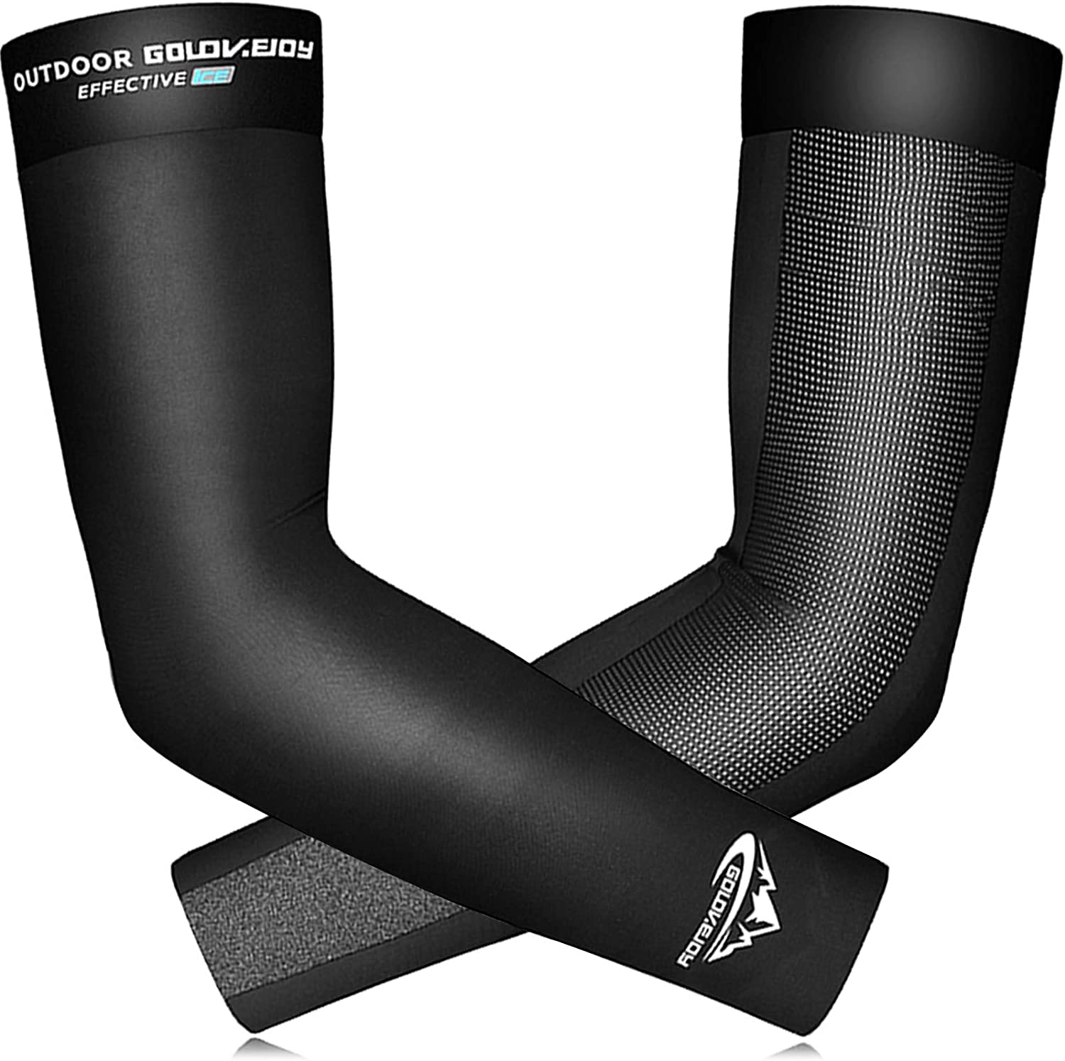 Bike Cycling Arm Sleeves Sun Protection Ice Fabric Sport Arm Covers Breathable