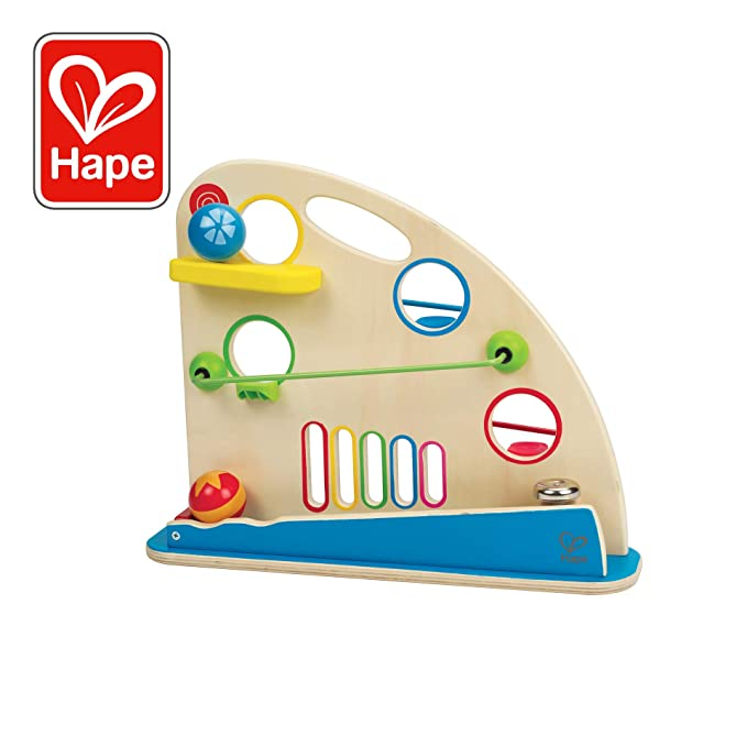 Award Winning Hape Totally Amazing Roller Derby Wooden Marble Racing Toddler Toy