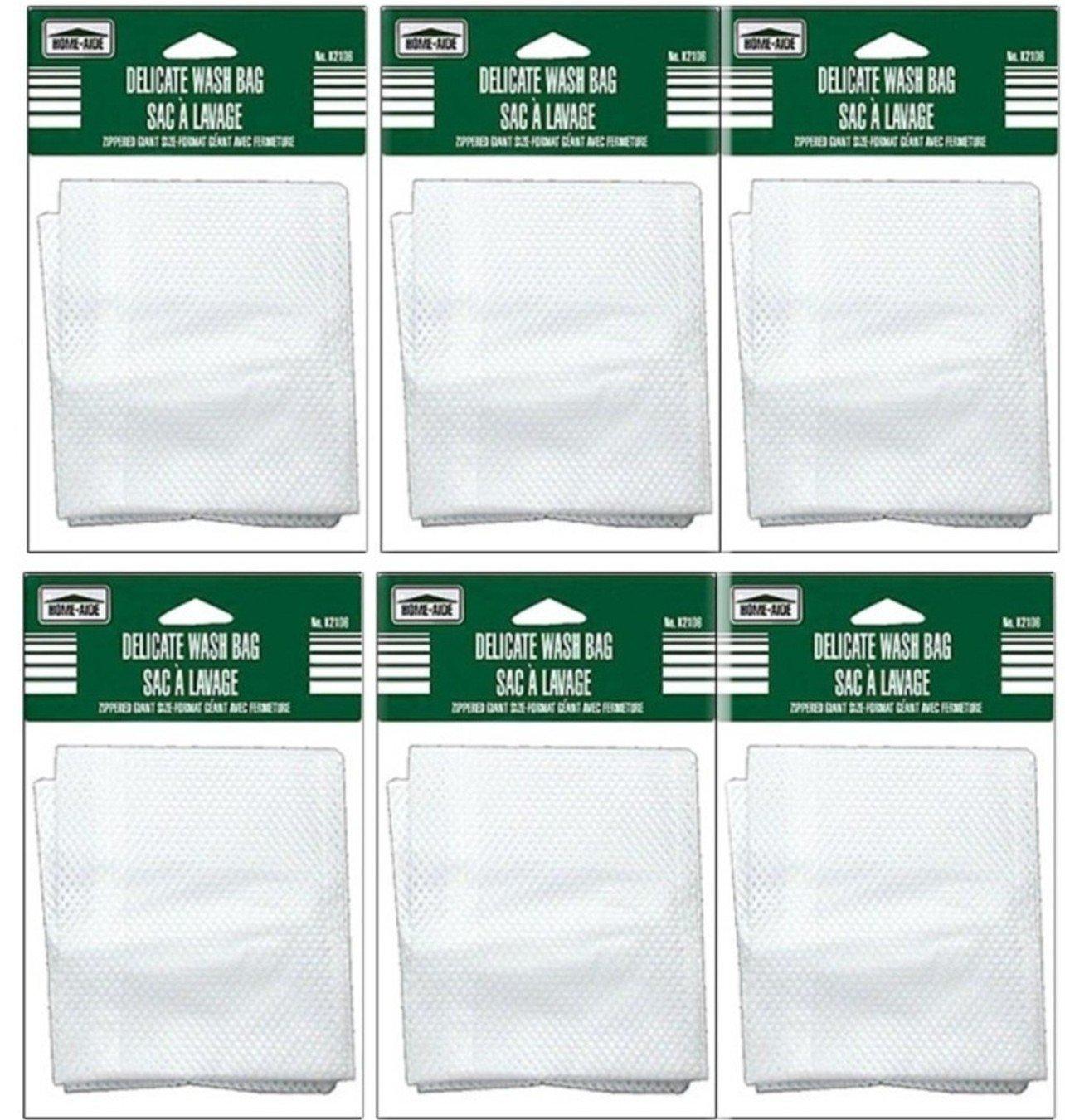 "Set of 6 X-Large 16.5"" X 13.8"" ~ Zippered Mesh Laundry Wash Bag ~ Delicates & Lingerie"