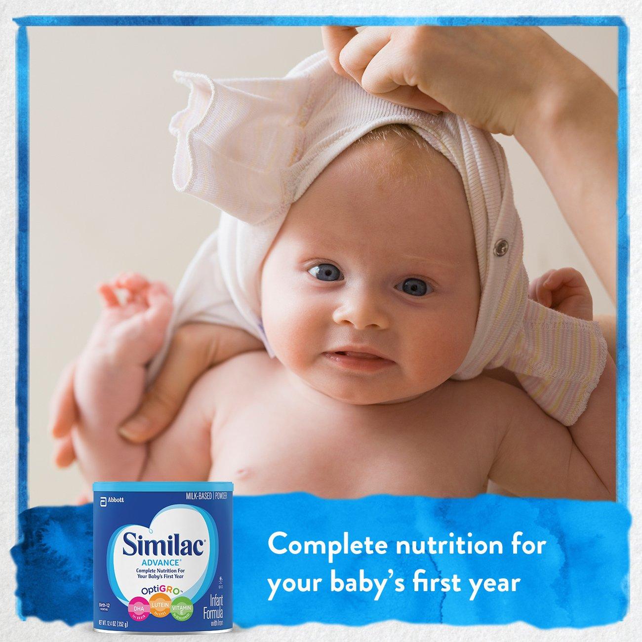 Similac Advance Infant Formula with Iron, Baby Formula, Powder, 12.4 oz (Pack of 6) by Similac (Image #3)