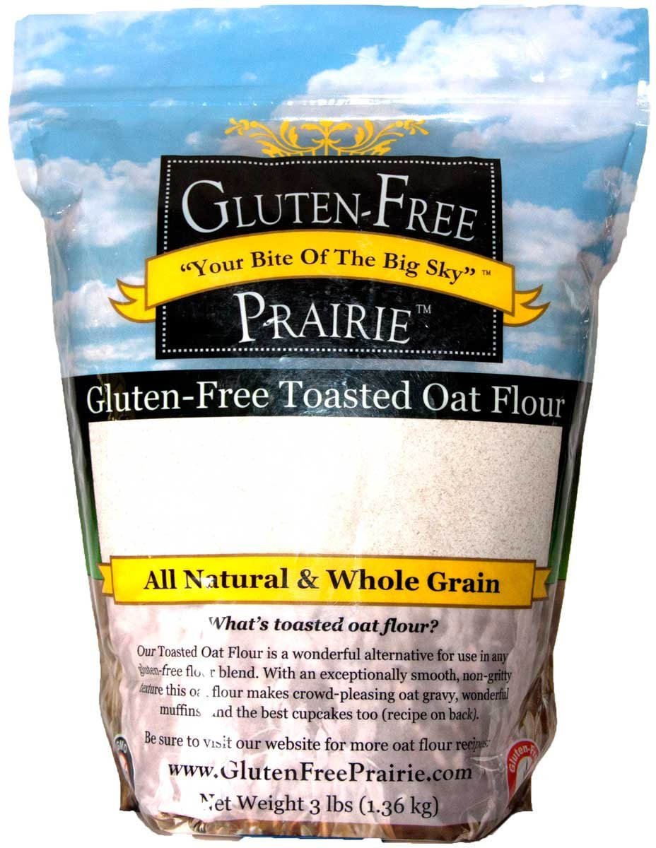 Gluten Free Prairie Toasted Oat Flour, 3 Pounds - Certified Gluten Free, All Natural, Whole Grain, Vegan, Low Glycemic, Heart Healthy, High in Protein and Fiber by Gluten Free Prairie