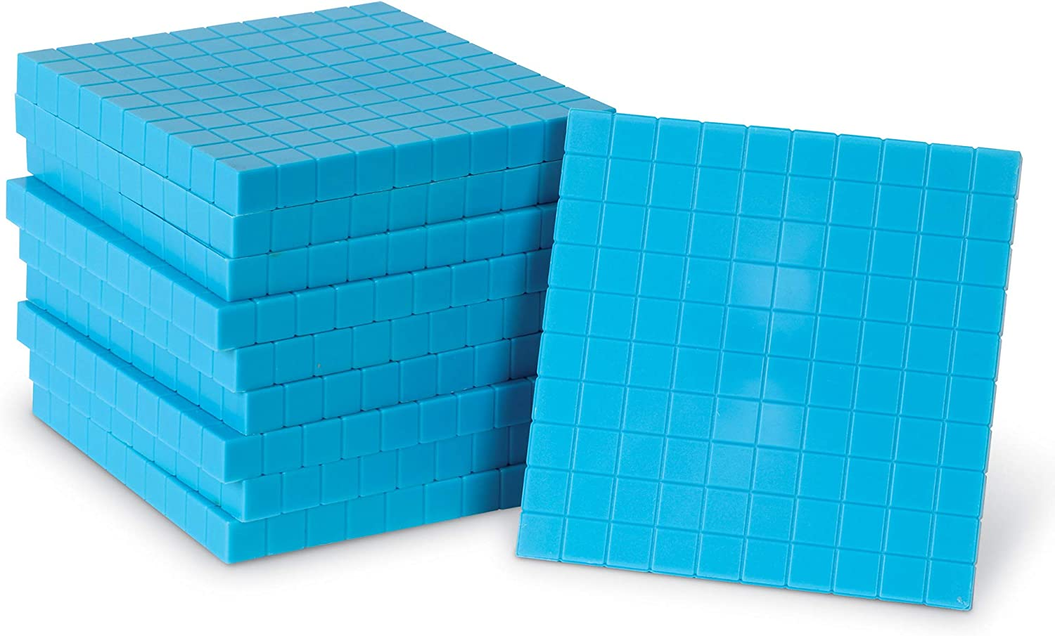 Learning Resources Plastic Base Ten Flats, 10 Piece