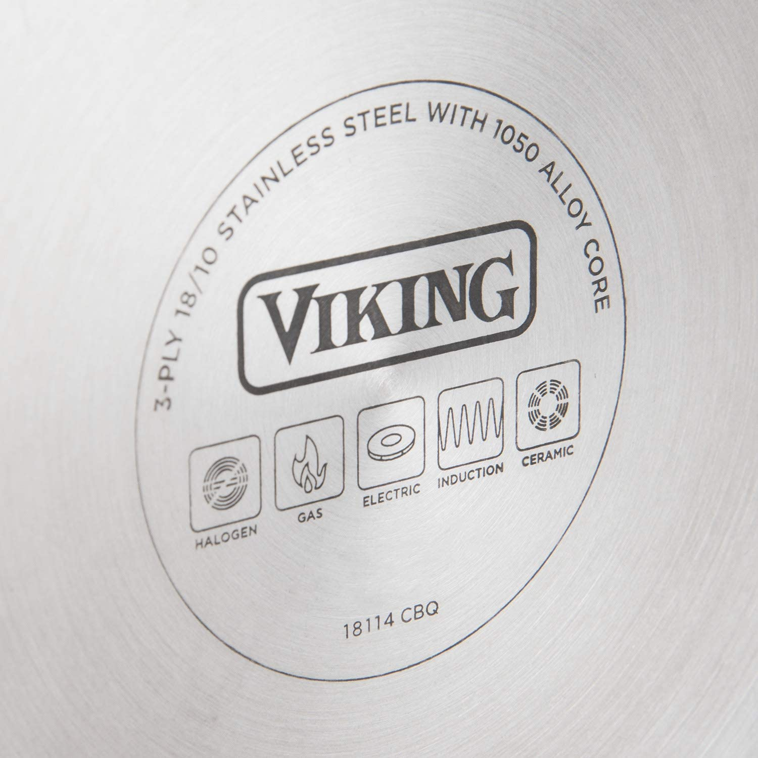 Viking 3-Ply Stainless Steel Nonstick Fry Pan 12 Inch with Lid