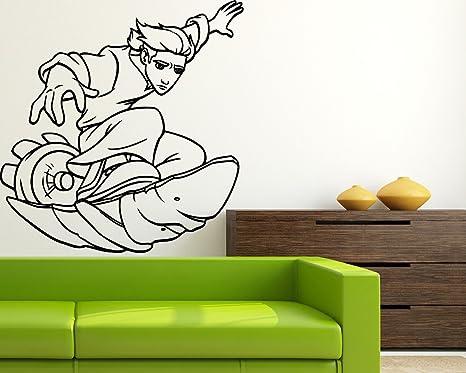 Amazon.com: Jim Hawkins Surf Pared Vinilo Mural Dibujos ...