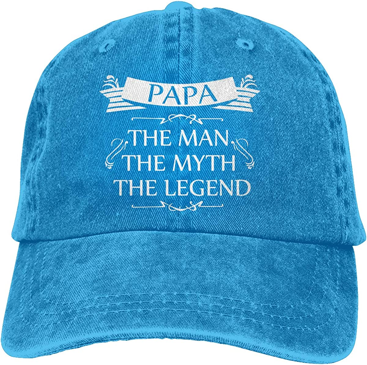 The Legend Adult Personalize Cowboy Sun Hat Adjustable Baseball Cap The Myth Mens Papa The Man
