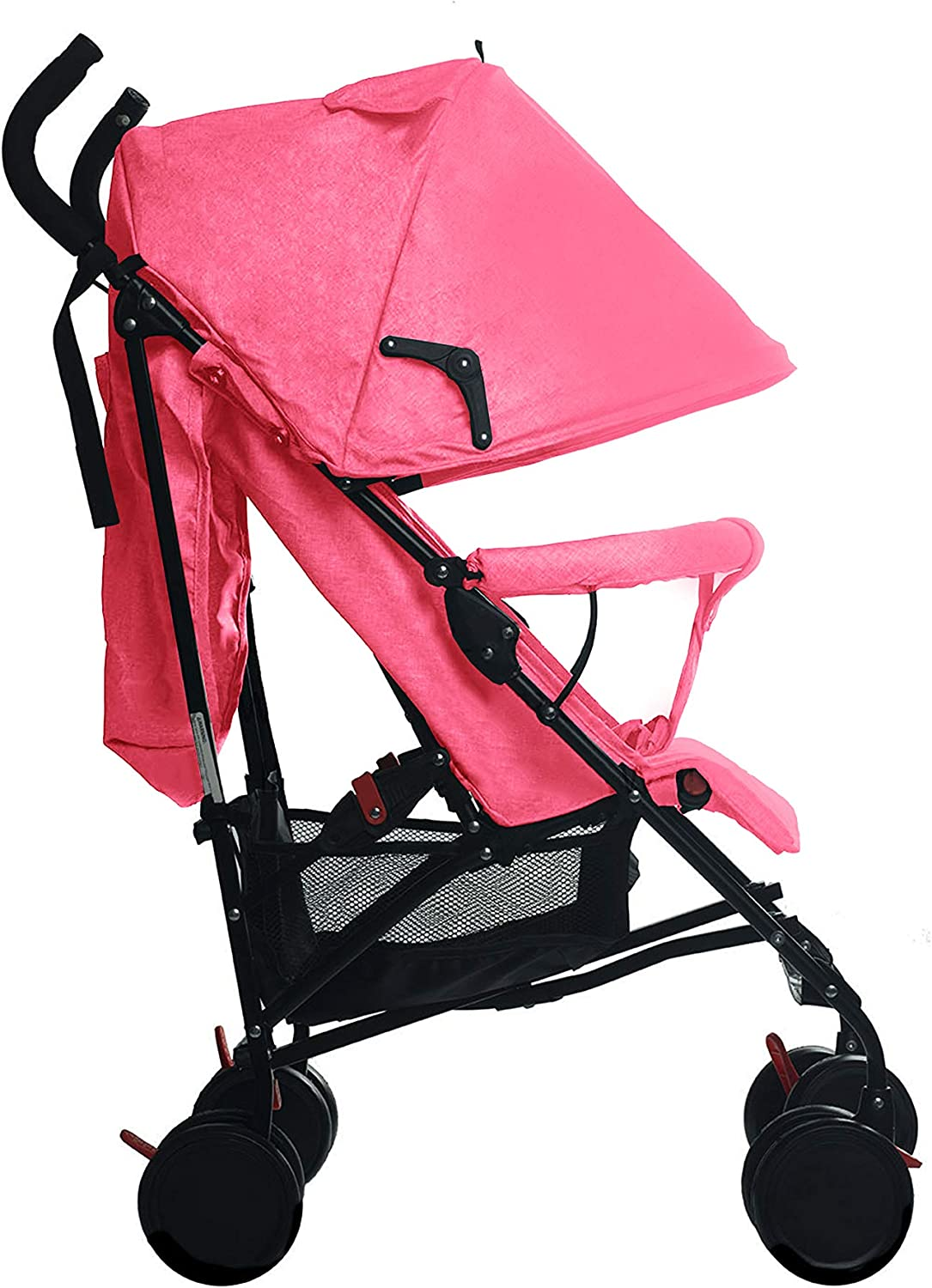 Stroller for Kids Lightweight Buggy Easy Fold Travel Multi-Functional Stroller Buggy Foldable for Travel Lightweight and Foldable Design Convenient to Store and Carry Pink