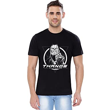 a9ad27be745cb The Souled Store Marvel Infinity War: Thanos (Glow in The Dark) Cotton  T-Shirt for Mens from
