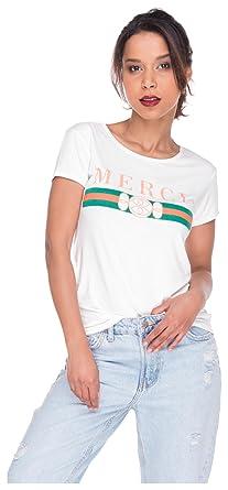 Tshirt Shirt Logoprint Damen T-Shirt Top Oberteil Guilty Mercy M L Mercy  Weiß 4ebe18ba42