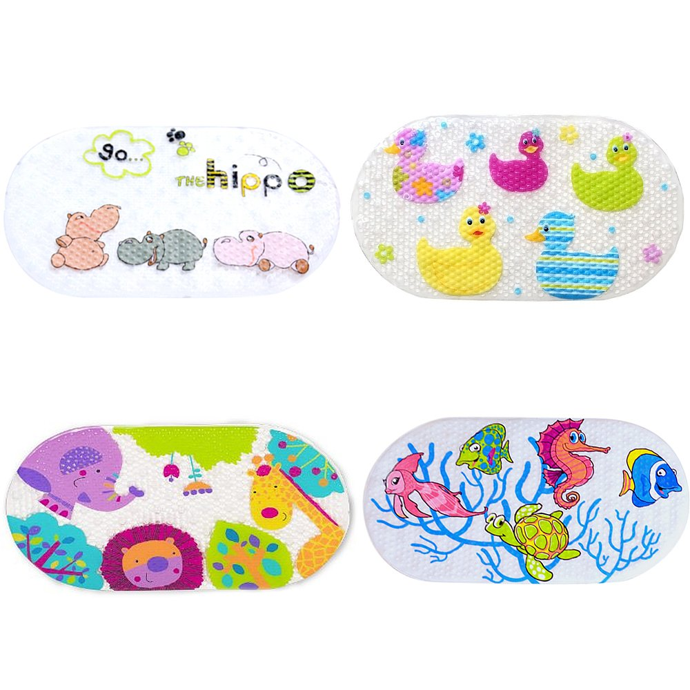 Kangkang@ Kids Cartoon Non Slip Suction PVC Safety Bath Shower Mat Bathroom Toliet Rugs tapis de bain tapete para banheiro (animal world,)