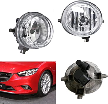 Right Side Clear Lens Fog Driving Light Lamp w//Cover For Mazda 3 2003-2005