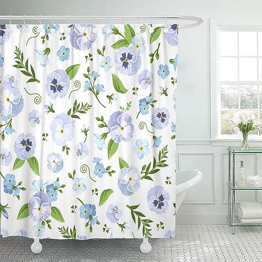 "Watercolor Cactus Plants Flowers Lama Shower Curtain Liner Waterproof Fabric 72/"""