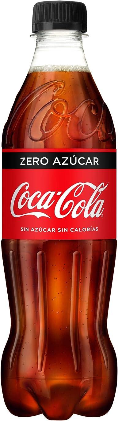 Coca-Cola - Zero, Botella de Plástico 500 ml - [pack de 12 ...