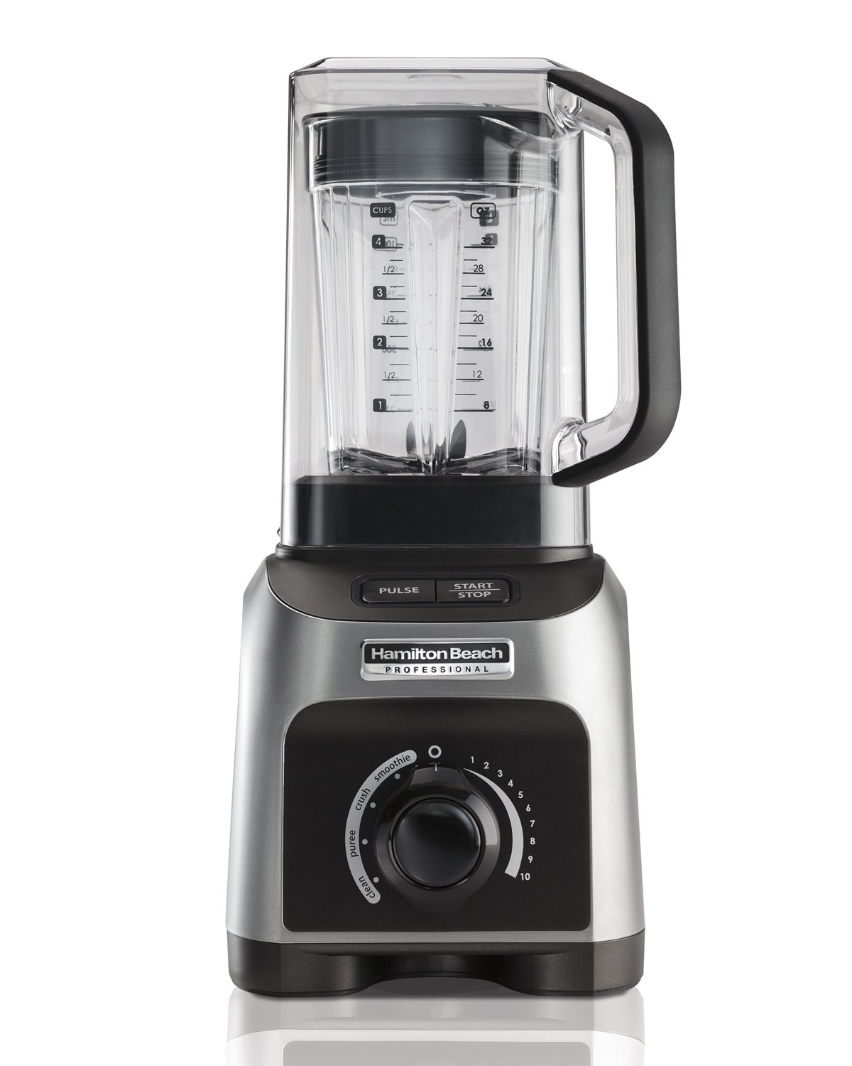 Hamilton Beach Professional 1500W Quiet Shield Blender with 32 oz BPA-free Jar & 4 Programs, Silver (58870)