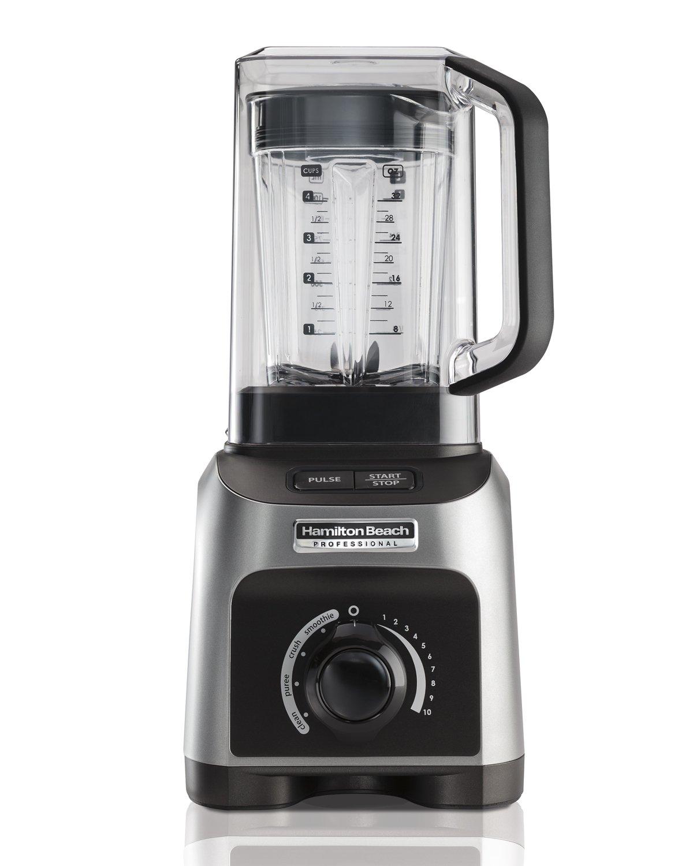 Hamilton Beach Professional 1500W Quiet Shield Blender with 32 oz BPA-free Jar & 4 Programs, Silver (58870)