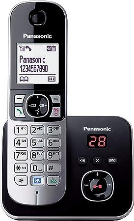 Panasonic - Teléfono fijo digital (contestador, inalámbrico, pantalla LCD), negro y plateado [Importado de Italia] [versión importada]: Panasonic: Amazon.es: Electrónica