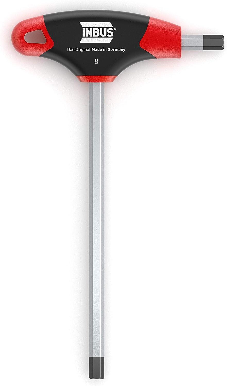 INBUS® 70105 Llave hexagonal con mango en T 8mm, con HybridTouch — Made in Germany