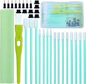 Aneco 60 Pieces Cell Phone Cleaning Kit Brush Set USB Charging Port Dust Port Covers Plug Set and Headphone Jack Cleaner Compatible with iPhone, iOS Android, Cell Phone, Electronics Cleaner