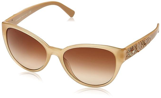 d722bb1e27 Amazon.com  Versace Women s VE4272 Opal Beige Brown Gradient  Clothing