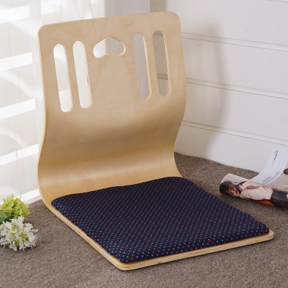 QIQ Tatami Room Chair,Bed Dormitory Back Chair Japanese Legless Chair Bay Window backrest Chair Lazy Chair Cushion-C by QIQ