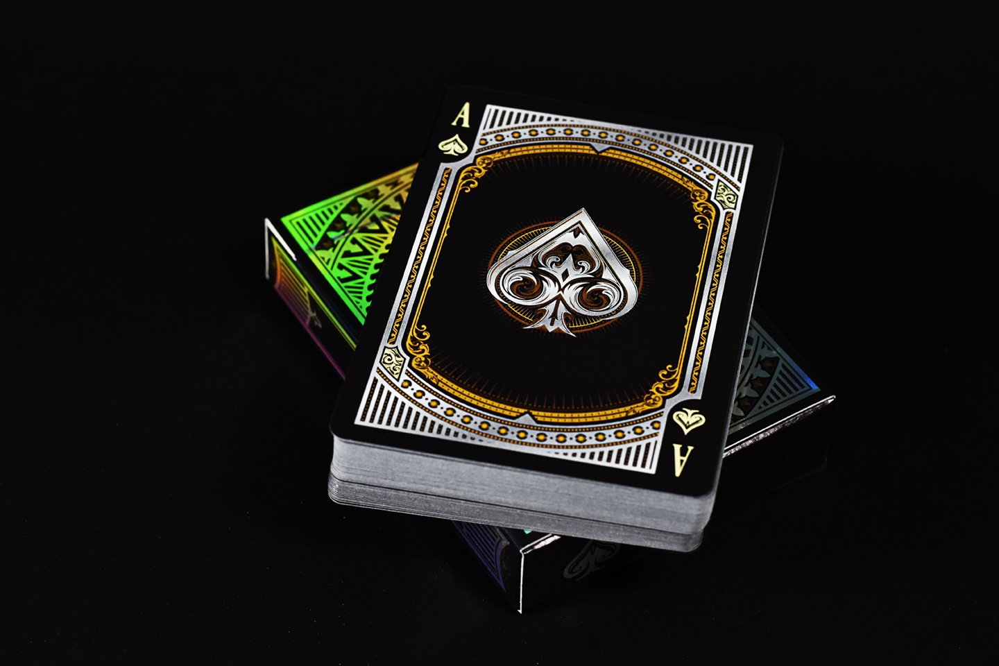 Alloy Copper Playing Cards Poker Deck Custom Design Foiled Back New by Gamblers Warehouse (Image #3)