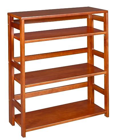 Regency Flip Flop 34 Inch High Folding Bookcase Cherry