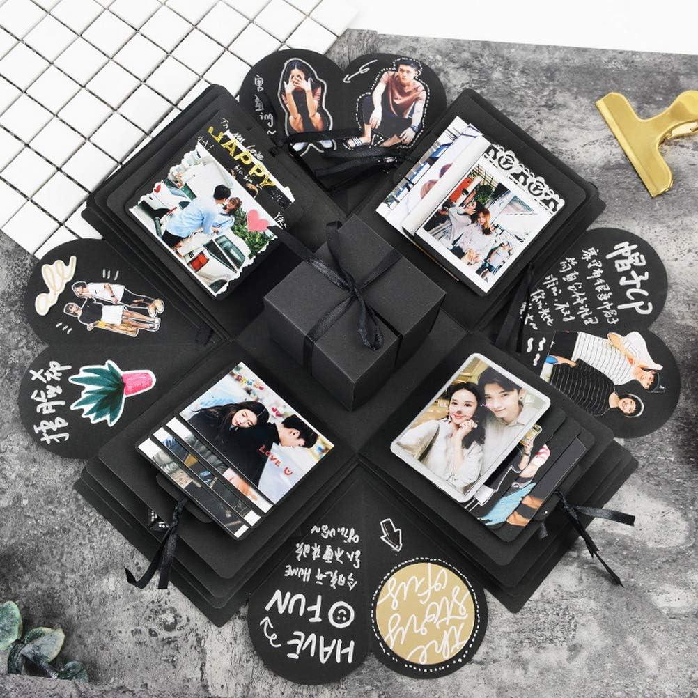 kuou Explosion Box Creative Explosion Gift Box DIY Photo Album Scrapbook Surprise Box 8 Faces for Wedding Birthday Valentine Day Anniversary Festival