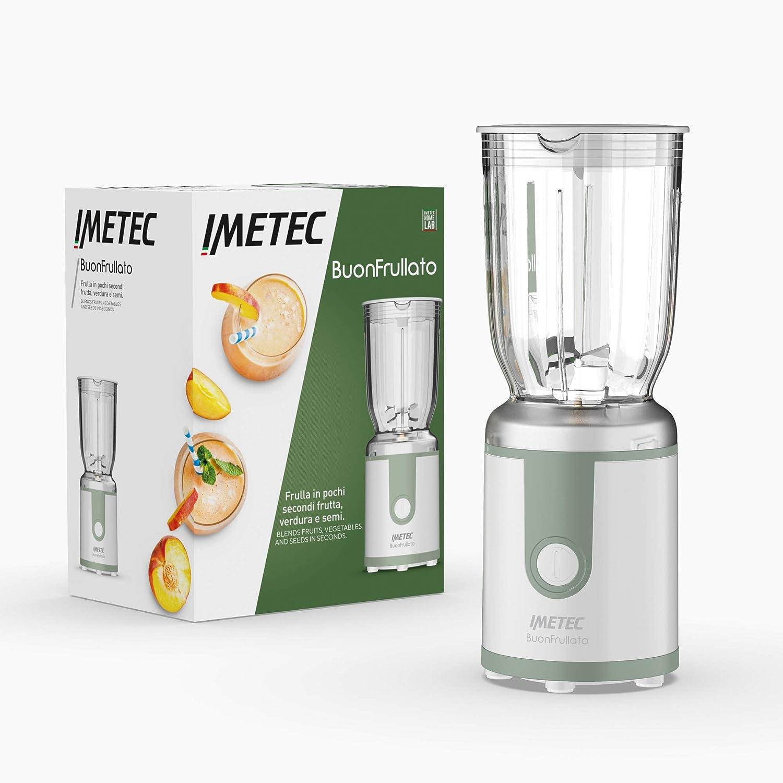 Imetec Buonfrullato, Licuadora Compacta, Vaso De Plástico Sin BPA, Capacidad De 700 Ml, Tapa Dosificadora De Líquido, 400 W, 7471