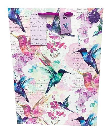 Bolsa de regalo extragrande para mujer, color morado, floral ...