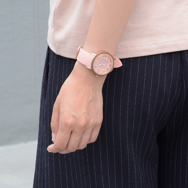 Relax Akku Frauen Analog Armbanduhr Pink