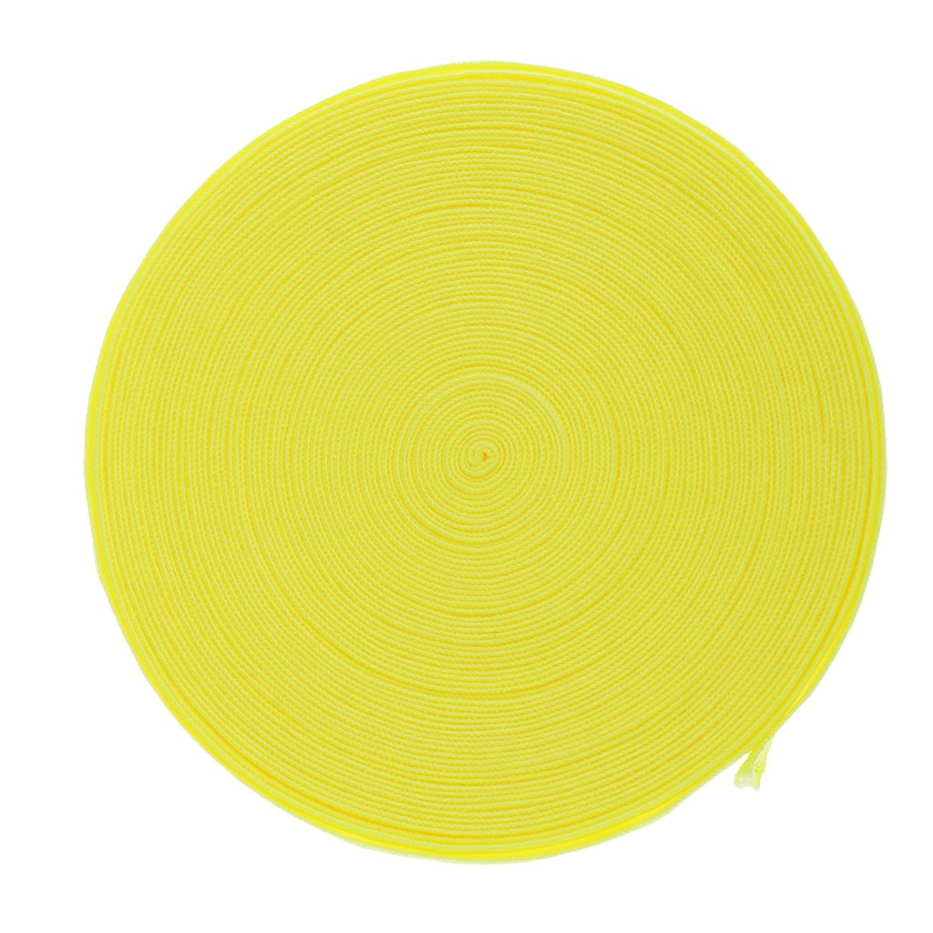 10M 15mm Elastic Stretch Band for Hair Ties Headbands Knitting Sewing Craft Bright Yellow