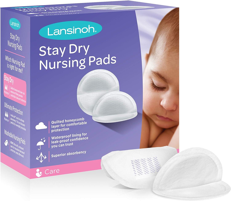 B003U3SWEA Lansinoh Stay Dry Disposable Nursing Pads for Breastfeeding, 36 count 71v2BwPjPttL