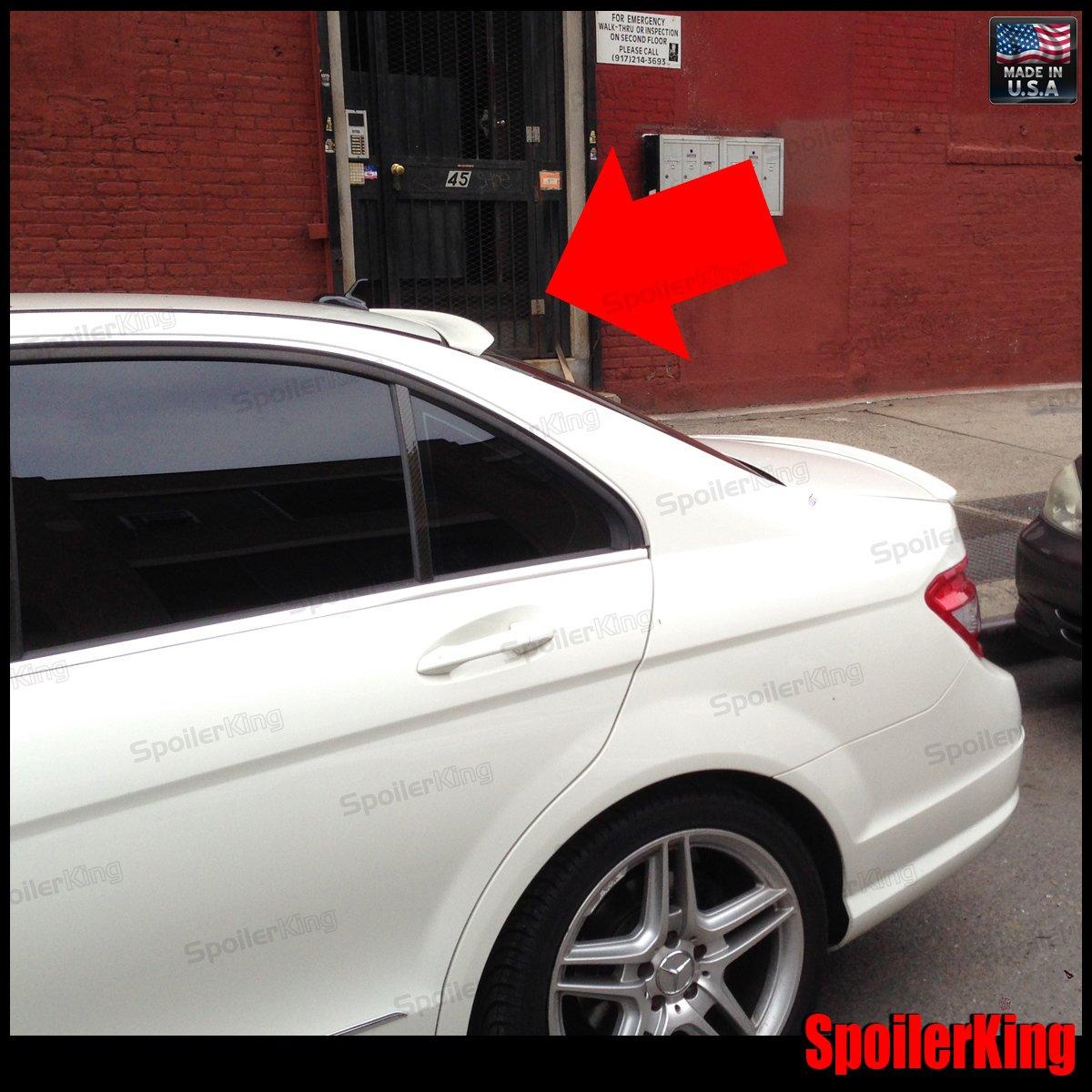 Amazon.com: Mercedes Benz C Class w204 Rear Window Roof Spoiler ...
