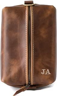 product image for Heirloom Leather Dopp Kit Bag, Groomsmen Gift, Personalized Toiletry Bag, Dopp Kit for Men, Gift For Men