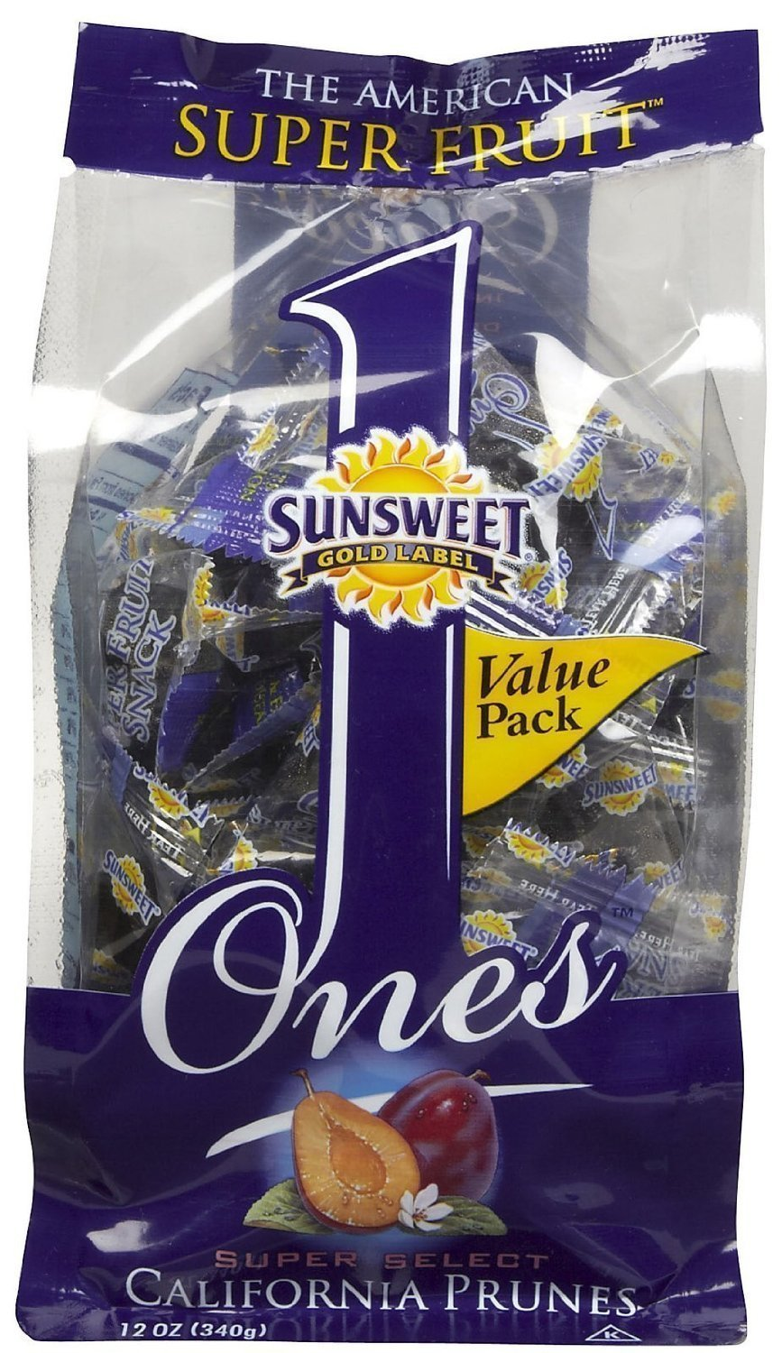 Sunsweet Ones California Prunes, 12 Ounce (Pack of 3) by Sunsweet