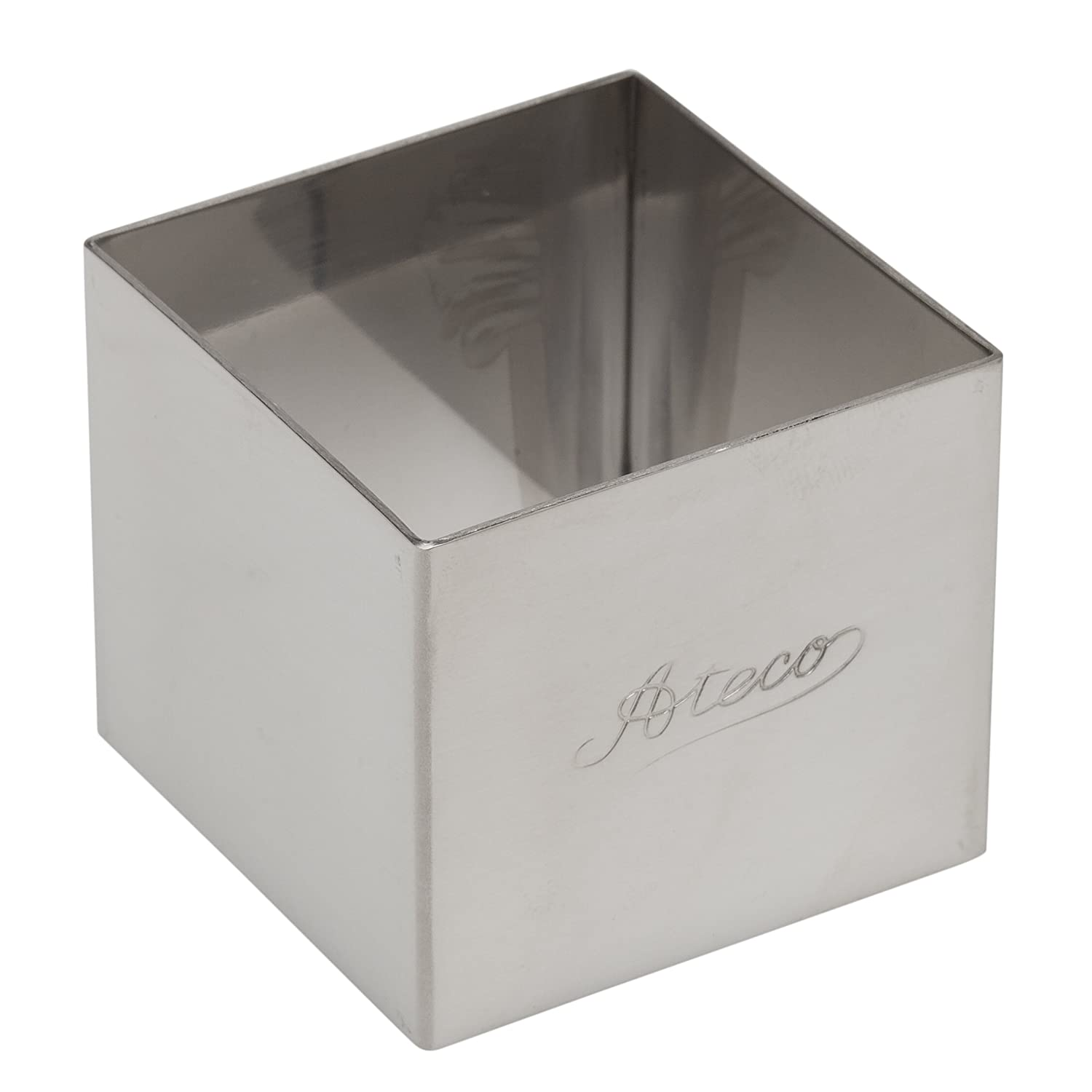 Ateco 4905 Stainless Steel Square Form, 2-Inch by 1.75-Inch