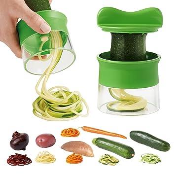 Kibuka Nouveau Coupeur, Râpe, Spiralizer de Légumes. Inclus brosse de nettoyage