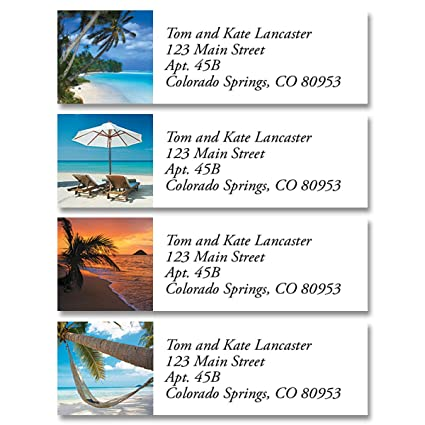 Tropical Harmony Personalized Return Address Labels – Set of 240, Small  Self-Adhesive, Flat-Sheet Labels (8 Designs), By Colorful Images